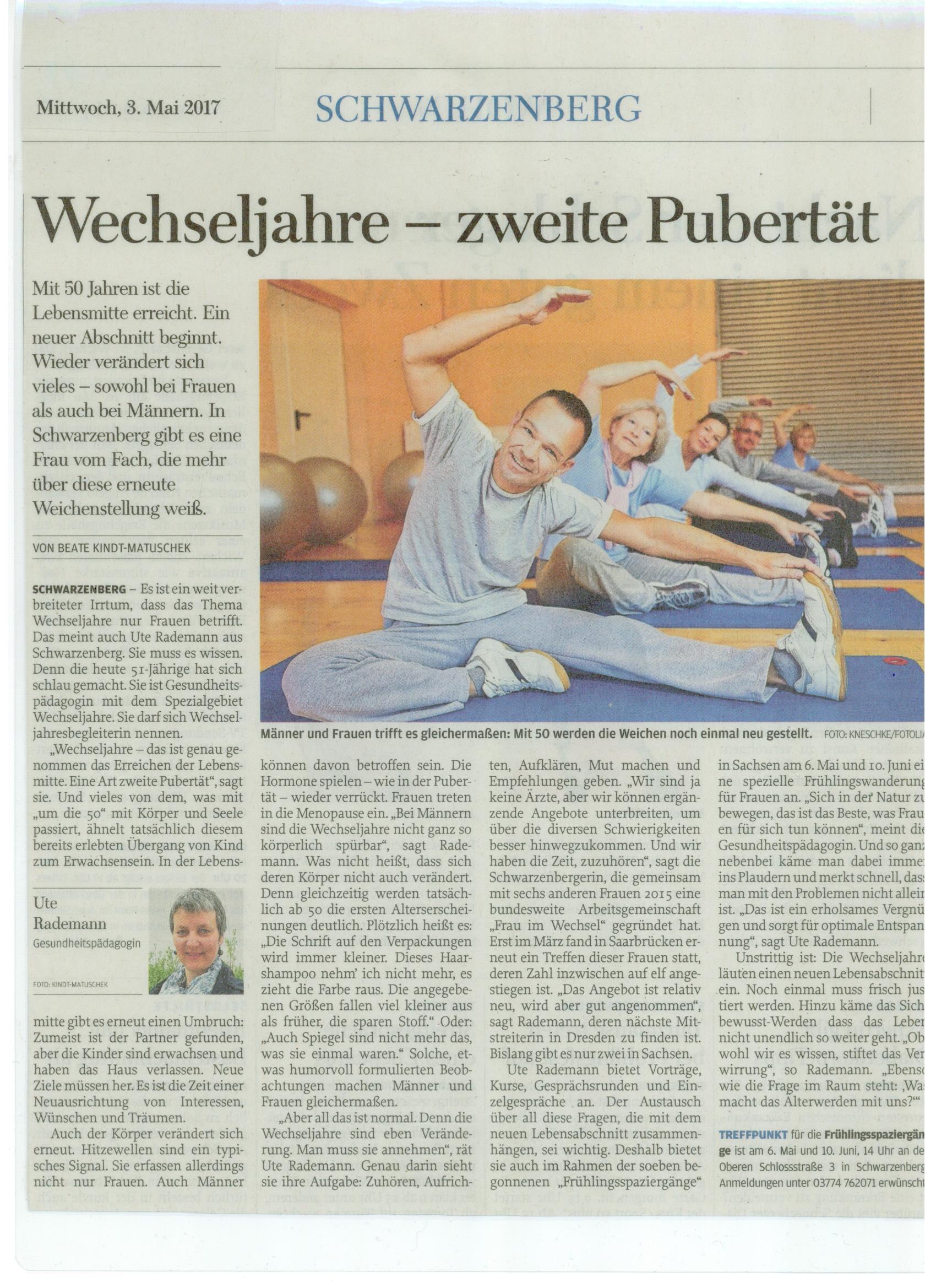 Zeitungsartikel Ute 052017